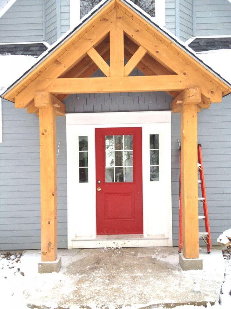 <span> - Timber Frame Entry Way</span>